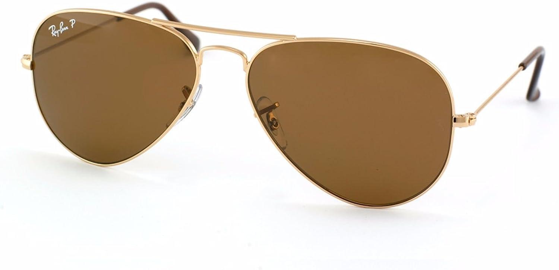 ray ban aviator polarized brown