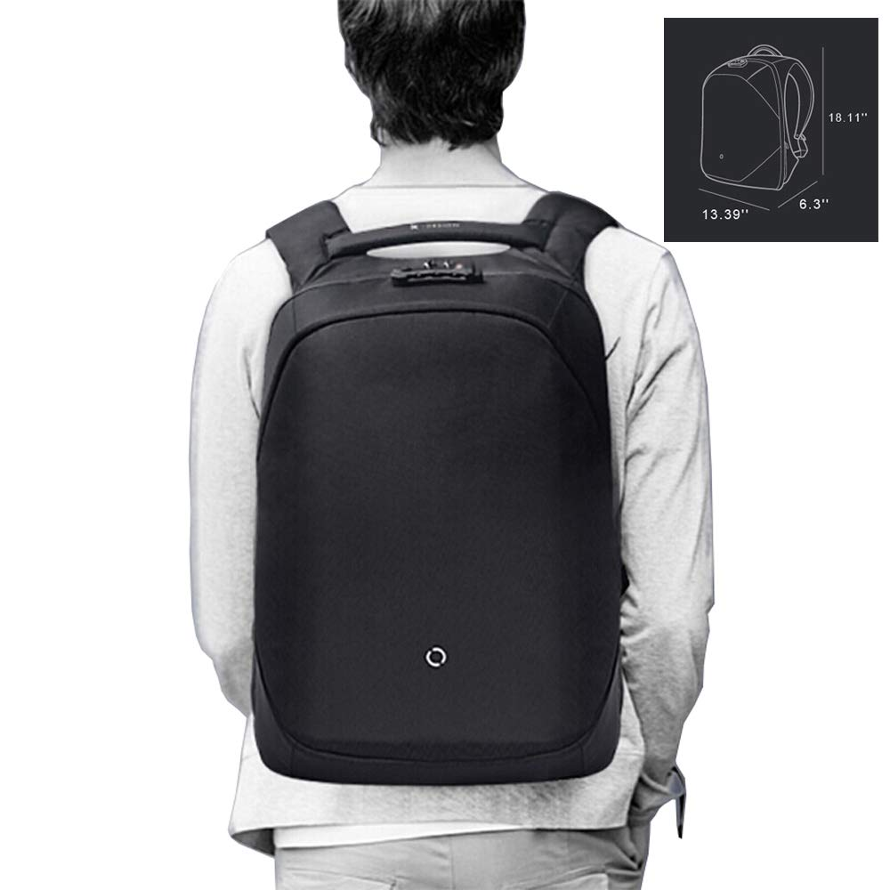 KORIN ClickPack Bro - Anti-Theft Backpack Laptop Backpack 15.6 inch with USB Charging Port Large Capacity Waterproof TSA Friendly Travel College School Student Travel Business Work Computer Backpack by KORIN (Image #5)