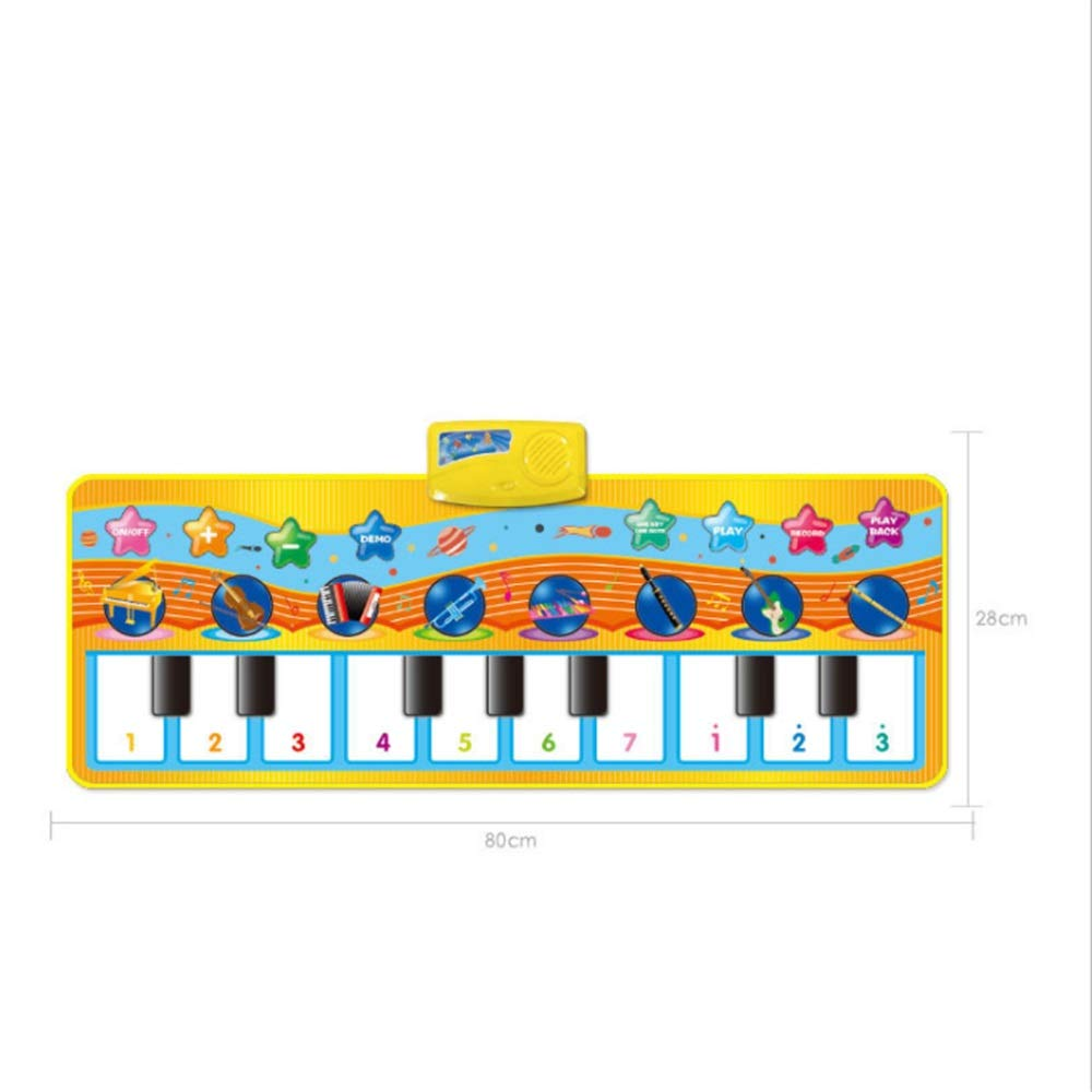 Play Keyboard Mat 32 Inches 10 Keys Electronic Musical Keyboard Playmat Foldable Floor Keyboard Piano Dancing Activity Mat Step And Play Instrument Toys For Toddlers Kids Children's Gift Different Mus by GAOCAN-gq (Image #3)