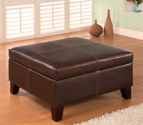 Helix Ottoman in Brown