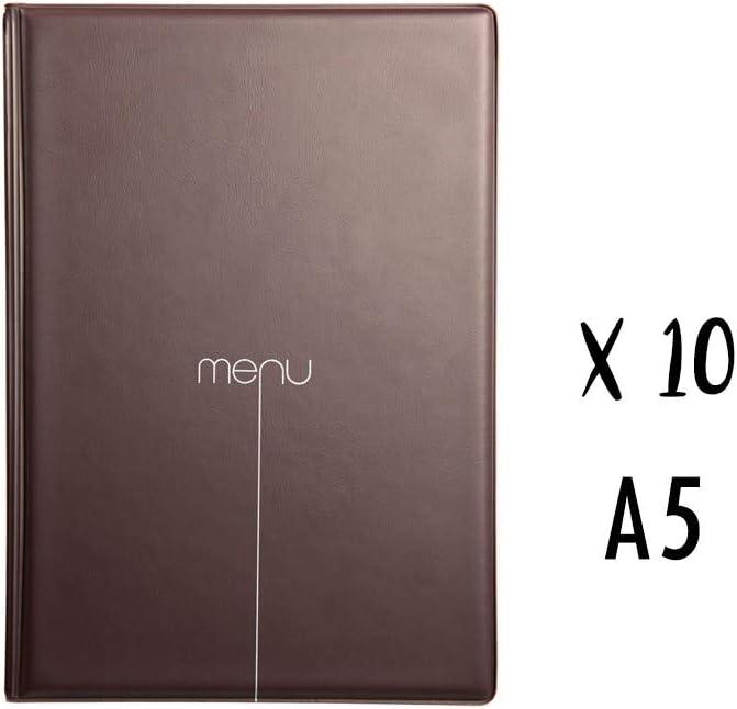 Set di 10/prot/ège-menus Risto A5/nero/ /nero/ /A5
