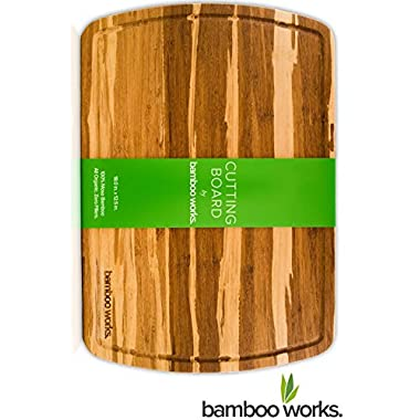 Bamboo Works 18-by-12.5-Inch Bamboo Wood Cutting Board