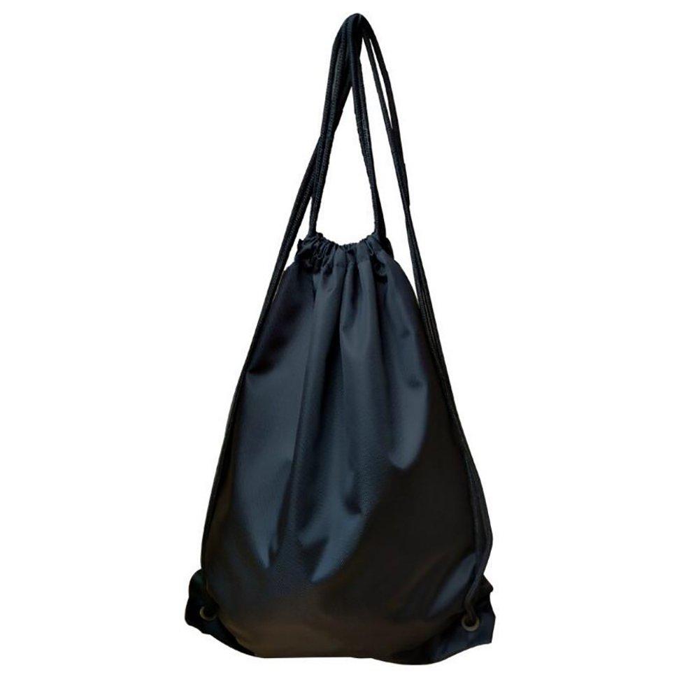 Sackpack Drawstringバックパック袋バッグジムバッグ B06Y254HRH  #2Black Small