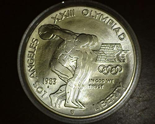 1983 P Olympic UNC Silver Dollar Commemorative $1 Uncirculated US Mint