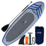 Newport Vessels Men's Umami Stand Up Paddleboard Set, 9-Feet x 10-Inch, White/Blue