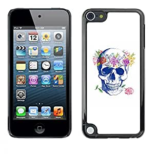 Planetar® ( Floral Wreath Spring Love Rose Skull ) Apple iPod Touch 5 Fundas Cover Cubre Hard Case Cover