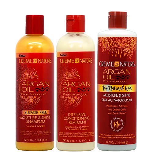 Creme of Nature Argan Oil Moisture Shampoo + Intensive Conditioning Treatment + Curl Activator -