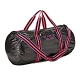 Cheap Victoria's Secret Lightweight Packable Weekender Duffle Bag Black/Pink