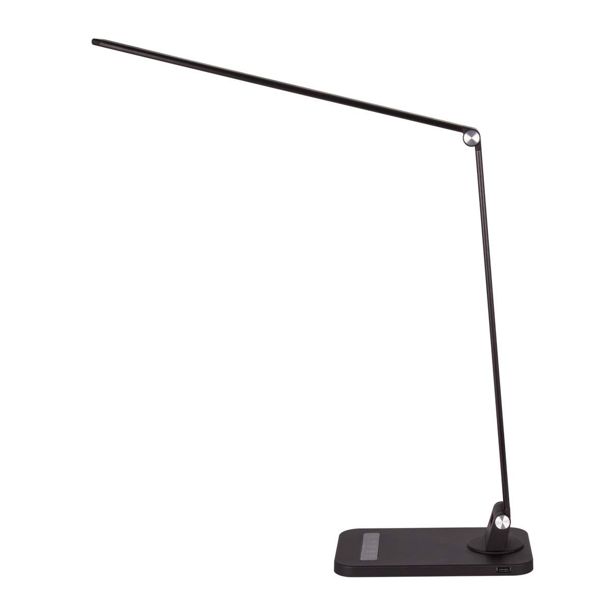 JJC Lighting 12W LED Desk Lamp with USB Charging Port, 4 Lighting Modes with 5 Brightness Levels, 0.5h/1h Timer, Touch Control, Memory Function,USB Port, Black by JJC
