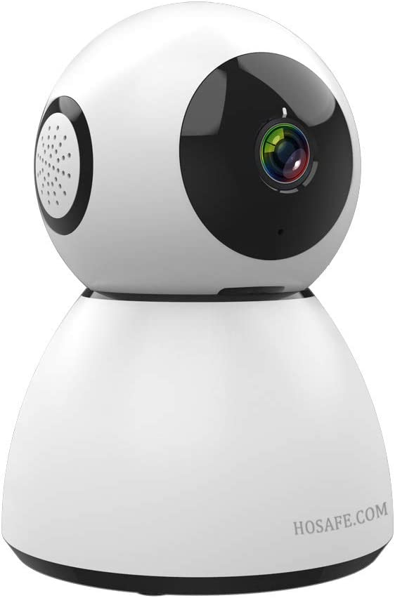 Baby Monitor with Camera and Audio, HOSAFE 1080P Baby Camera Sound Monitor WiFi Dog Cameras with Phone App with Speaker Pan Tilt Zoom, SD and Cloud Storage, Infant Cry Alert to Phone