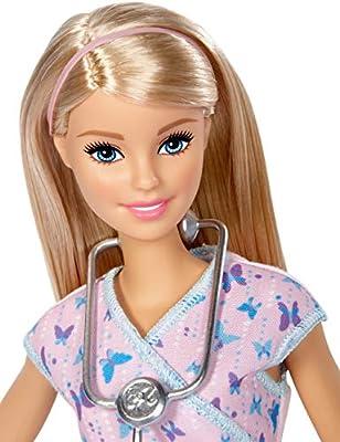 Amazon.es: Barbie - Muñeca quiero ser - enfermera - muñeca - (Mattel DVF57): Juguetes y juegos