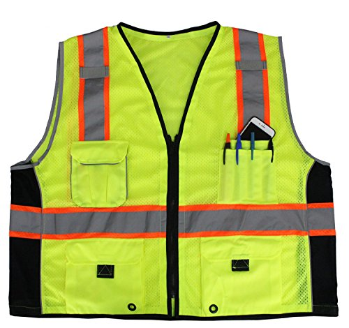First Class Reflective Safety Vest With Pockets (4XL/5XL)