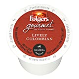 80ct k cup coffee - Folgers Lively Colombian Coffee, 80-Count cups
