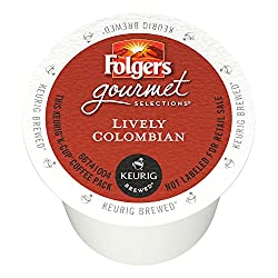 Folgers Lively Colombian Coffee, 80-count Cups