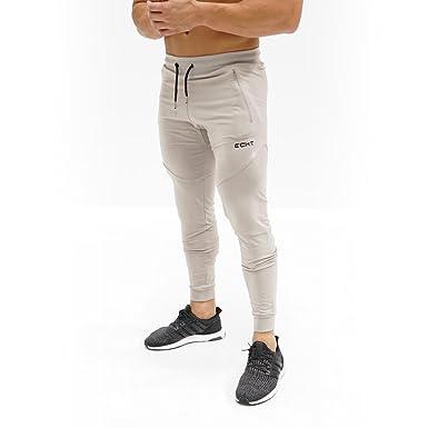 ec69fa3b6c4 ECHT Tapered Porpoise Joggers V3 Men Pants Gym Wear Sweat Trousers Slim Fit  Bottoms (Large