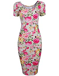 Women's Sweetheart Short Sleeve Midi Dress