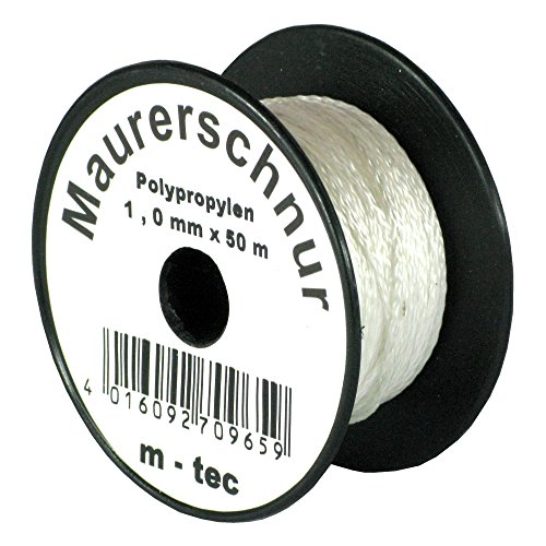LOT-MAURERSCHNUR 50 m x Ø 1,0 mm WEISS