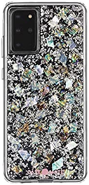 Case-Mate - KARAT - Case for Samsung Galaxy S20+ | S20 Plus - 5G Compatible - Real Mother of Pearl & Silve