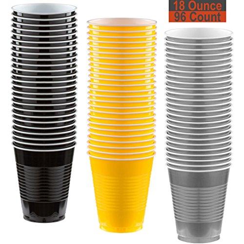 18 oz Party Cups, 96 Count - Black,
