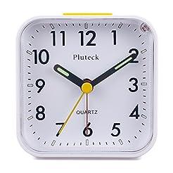 Pluteck Non Ticking Analog Alarm Clock w...