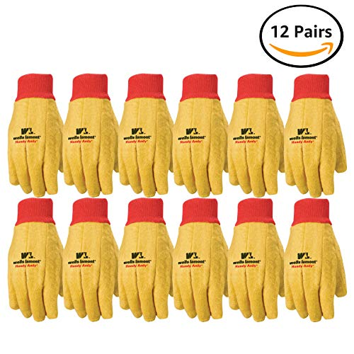 Wells Lamont Polyester and Cotton Chore Gloves, Standard Weight, Extra Large, 12-pack (412XL) - Cotton Gloves Chore