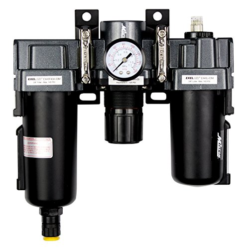 - EXELAIR by Milton FRL Air Filter, Regulator, and Lubricator System - 3/8
