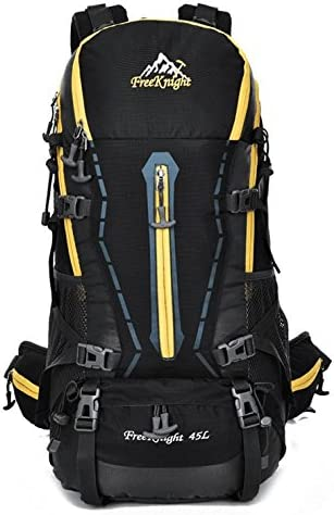 CTARCROW Hiking Backpack Travel Daypack Waterproof with Rain Cover for Climbing Camping Color : Black