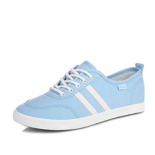 Toile casual chaussures d'été/Chaussures basses de fond plat étudiant/Flux des souliers pour dames-A Longueur du pied=22.3CM(8.8Inch) wu55K9Dd