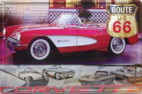 1957-chevrolet-corvette-convertible-classic-car-metal-tin-sign-tin-poster-art-vintage-style-wall-orn