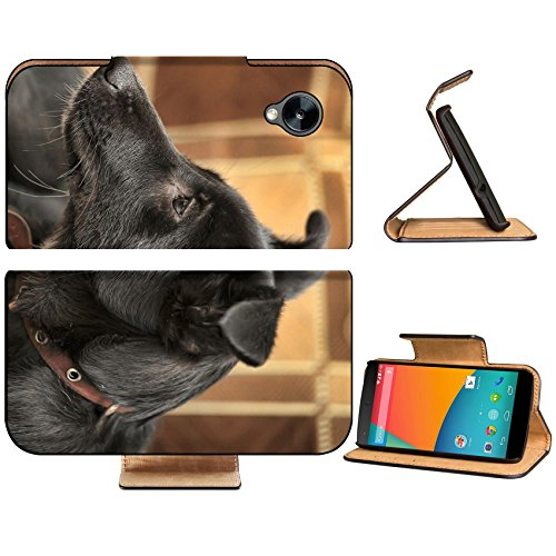 LG Google Nexus 5 Flip Case Black with gray puppy purebred crossbreed IMAGE 33757641 by MSD Customized Premium Deluxe Pu Leather generation Accessories HD Wifi Luxury Protector