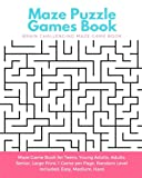 img - for Maze Puzzle Games Book: Brain Challenging Maze Game Book for Teens, Young Adults, Adults, Senior, Large Print, 1 Game per Page, Random Level Included: Easy, Medium, Hard book / textbook / text book
