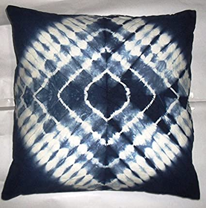 Amazon Com Tie Dye Cushion Cover 16x16 Indigo Pillows Decorative