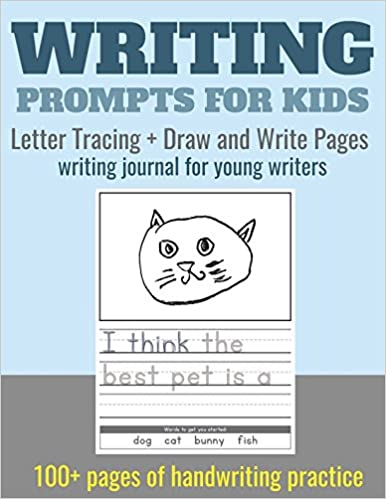 writing prompts for kids letter tracing draw and write pages