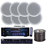 Pyle - 4 Room Home In-Ceiling Speakers W/DVD/MP3 Amp System