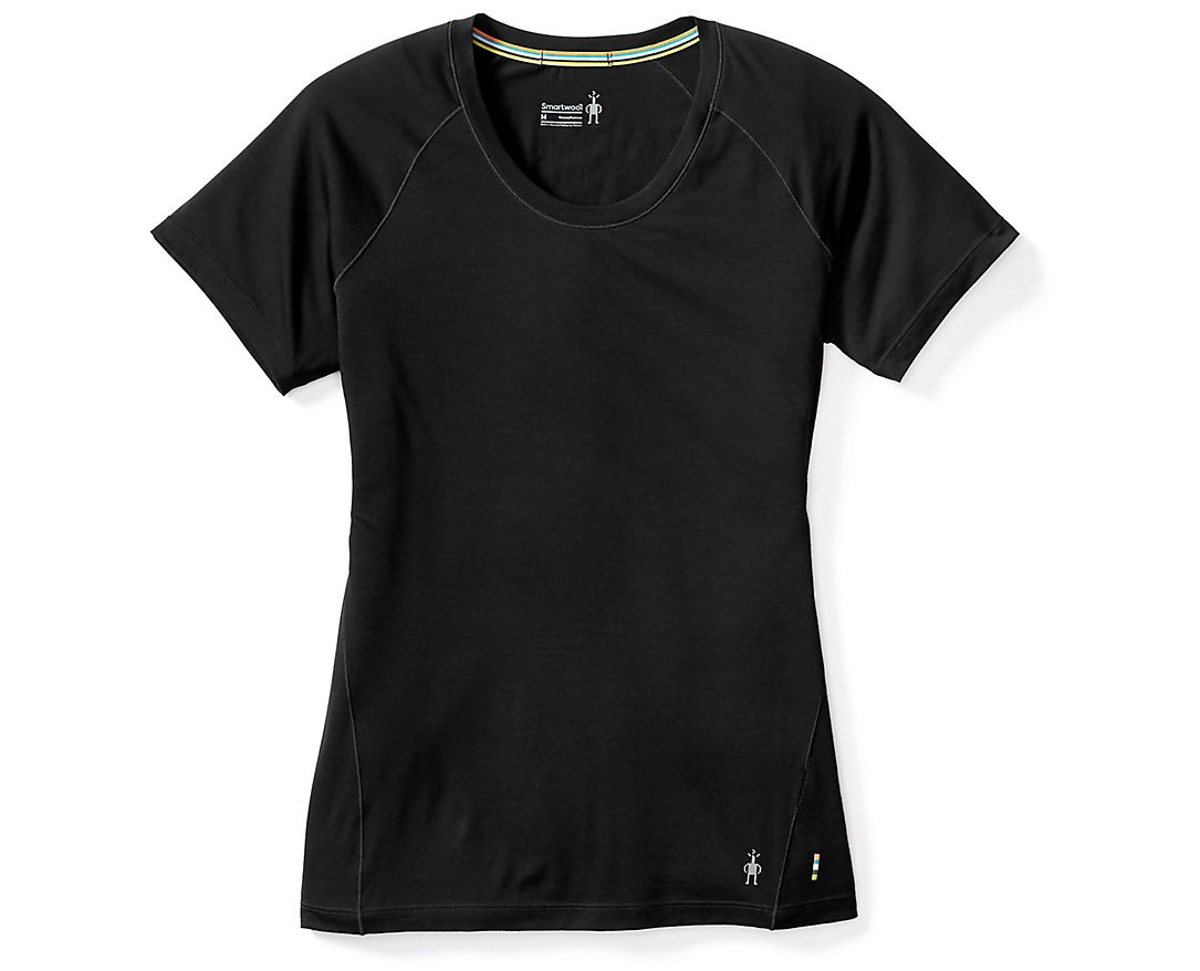 SmartWool Women's Merino 150 Baselayer Short Sleeve (Black) Medium