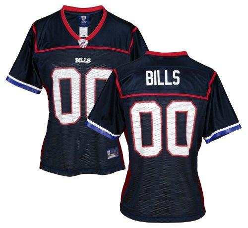 Buffalo Bills NFL Womens Replica Team Jersey, Navy Blue & Red – DiZiSports Store