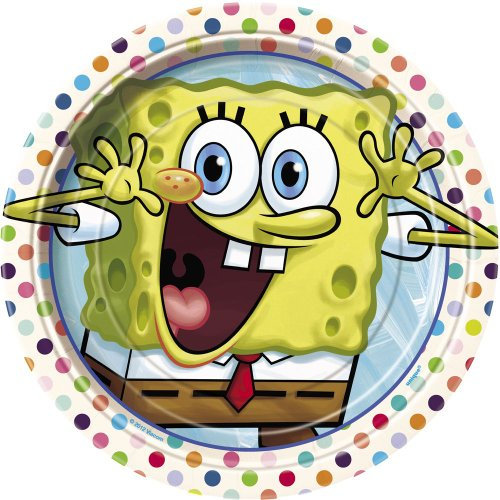 SpongeBob SquarePants Dessert Plates, 8ct