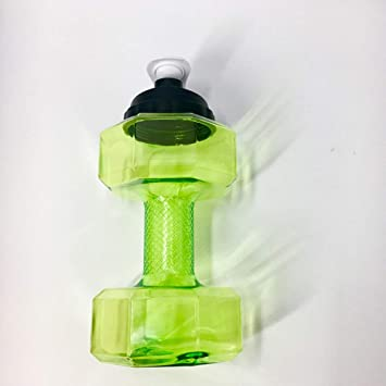 X10 Mancuernas Tetera Exterior Plástico Deportes Botella Montañismo Turismo 2.2 L Taza,Green,2.2