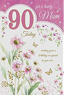 Mum 90 90th Happy Birthday Tea Pot Cake Design Good Quality Card With A Lovely