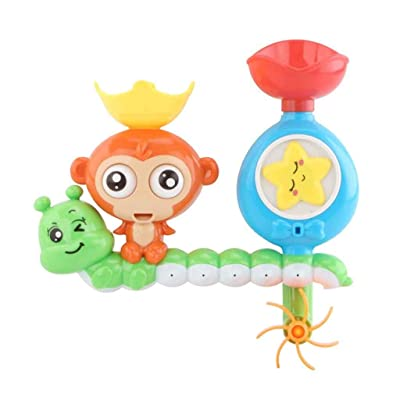 Cartoon Baby Bath Toy Bathroom Bathtub Funny Shower Spraying Water Toys: Beauty