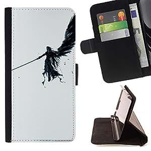 Momo Phone Case / Flip Funda de Cuero Case Cover - ÁNGEL OSCURO - Apple Iphone 4 / 4S