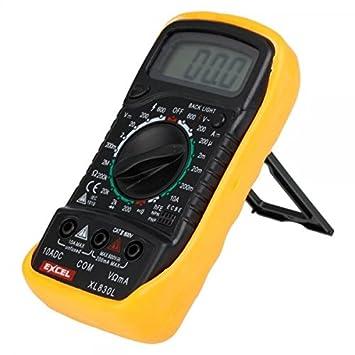 Excel xl830l digital 3 12 lcd voltmeter ammeter ohmmeter multimeter excel xl830l digital 3 12 lcd voltmeter ammeter ohmmeter multimeter multitester black yellow fandeluxe Choice Image