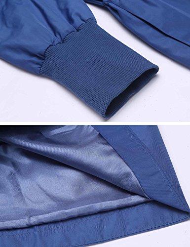 Azul mujer Parka para Chaqueta Modfine pqvR6w7p