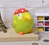 Goodscene Cartoon Piggy Bank Toucan Piggy Bank Fun Ceramic Decoration Children Gift (Green)