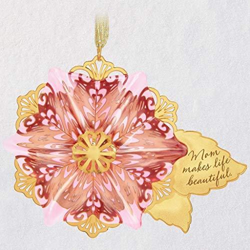 Hallmark Keepsake Christmas Ornament 2019 Gift, Glass and Metal, Beautiful Mom Flower (Mom Gifts 2019 For Christmas)