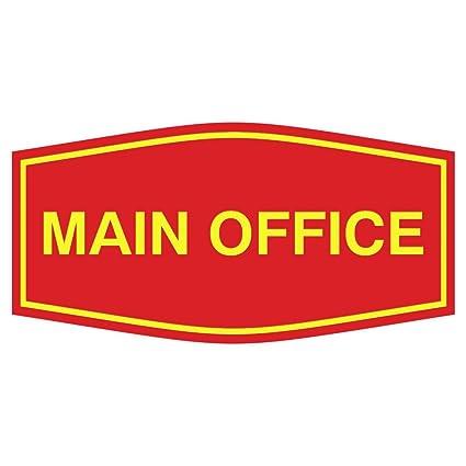 Cartel de oficina principal: Amazon.es: Oficina y papelería