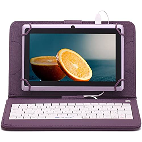 iRULU eXpro X1 7 Inch Quad Core Google Android 4.4 Tablet PC, 1024600 Resolution, Wi-Fi, Games, Dual Cameras, 8GB Storage - Purple Tablet Coupons