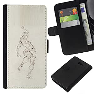 KingStore / Leather Etui en cuir / Sony Xperia M2 / ;