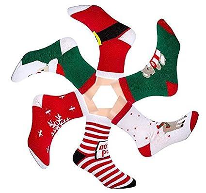 Sanfeng bebé algodón de calcetines de Navidad, para niños calcetín de invierno cálido para bebé