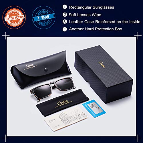 c0dffd72cf Carfia Vintage Polarized Sunglasses for Men